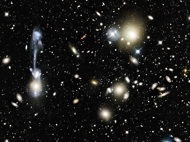 A Galactic Collision in Cluster Abell 1185