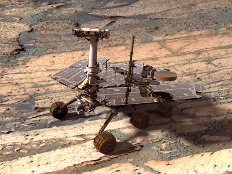 A Digital Opportunity Rover on Mars