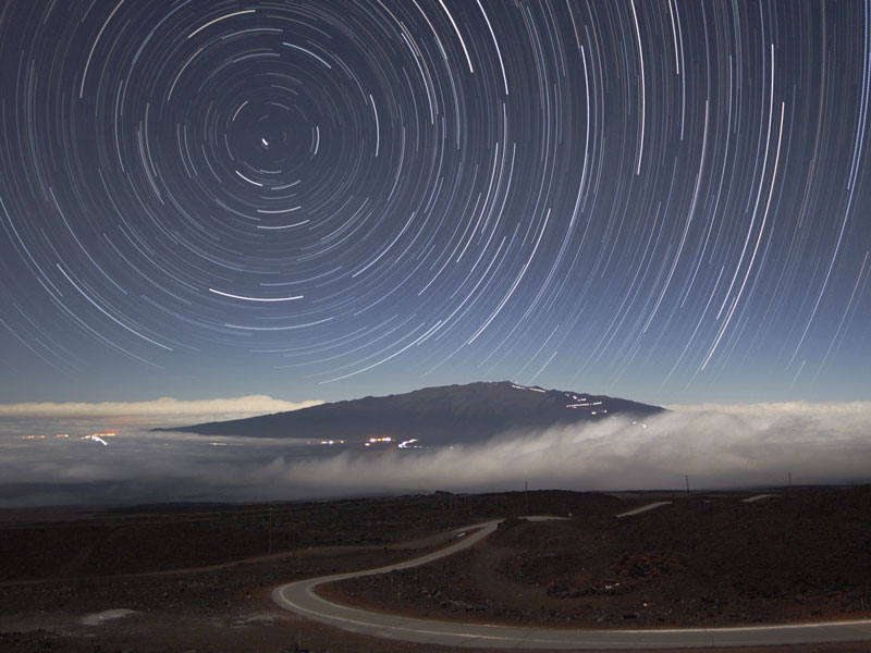 Star Trails Above Mauna Kea