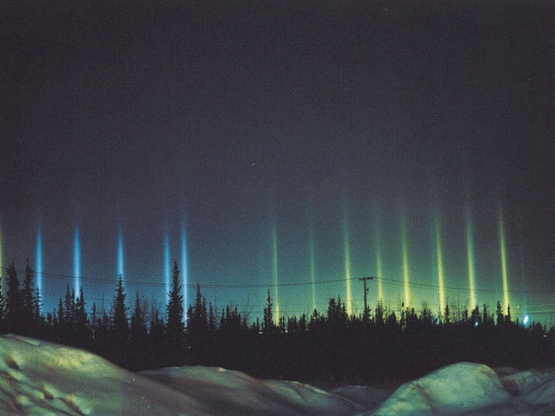 Colorful Light Pillars