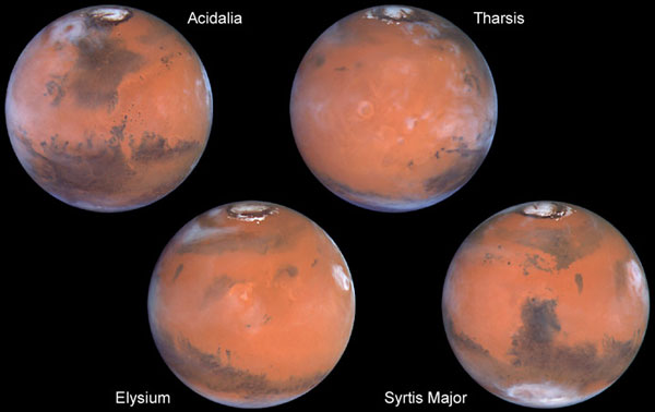 Four Faces of Mars