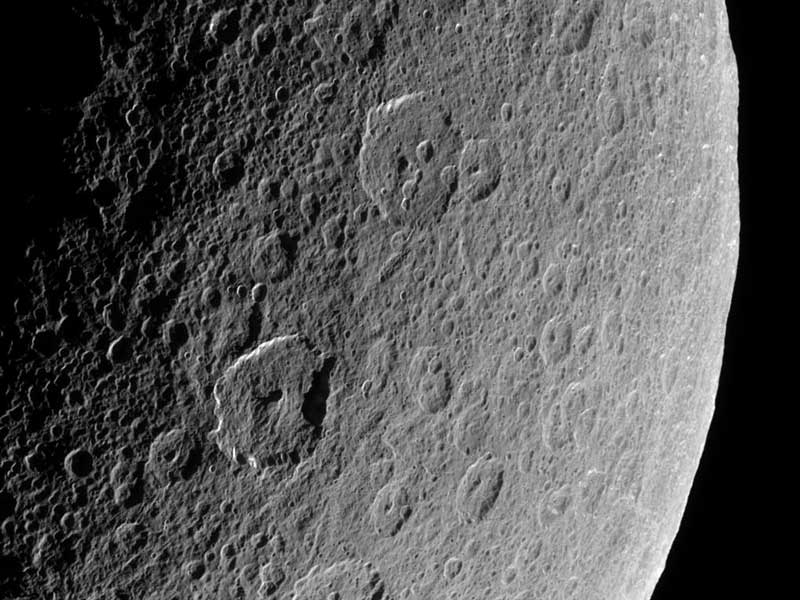 Ancient Craters on Saturns Rhea