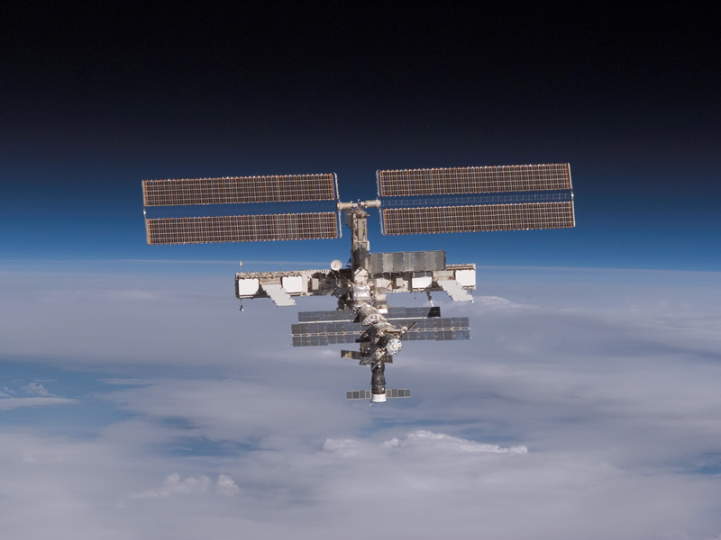 The International Space Station on the Horizon