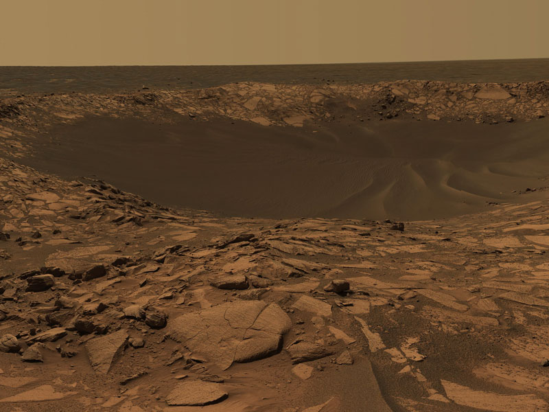Beagle Crater on Mars