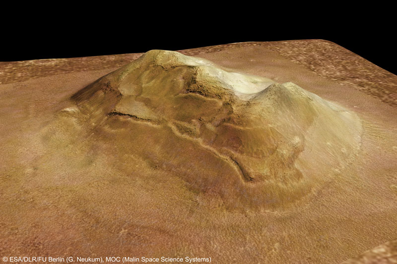 Mars Express Close Up of the Face on Mars