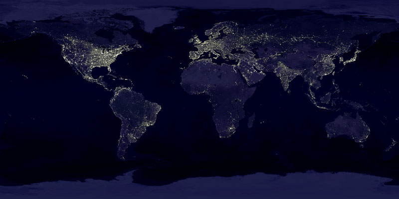 APOD: 2006 October 1- Earth at Night