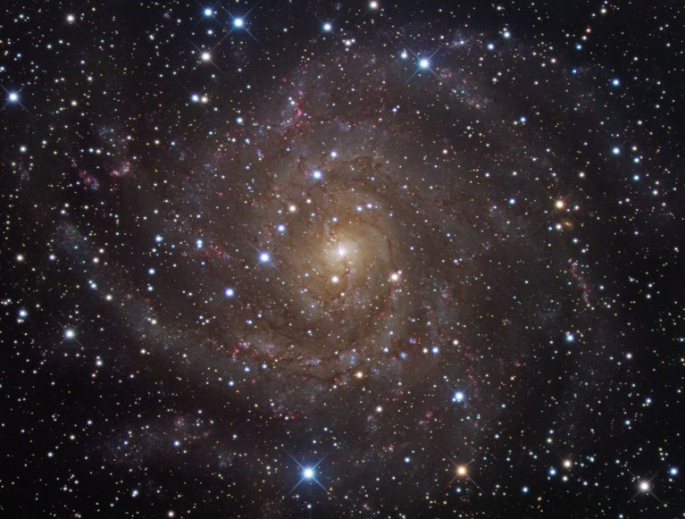 Hidden Galaxy IC 342