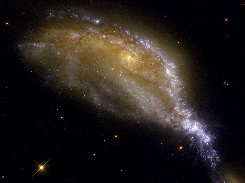 A Galaxy Collision in NGC 6745