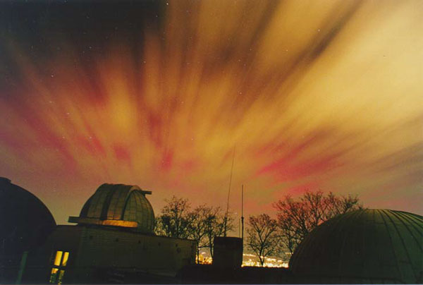 Aurora in Red and Yellow