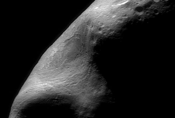 A Giant Gouge on Asteroid Eros