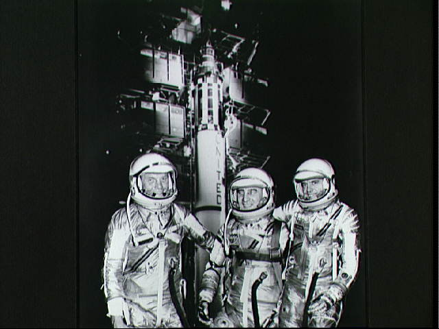 Mercury Astronauts and a Redstone