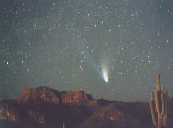 Comet Hale Bopp Over the Superstition Mountains