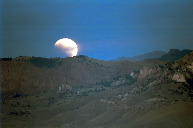 Eclipse Over The Mountain