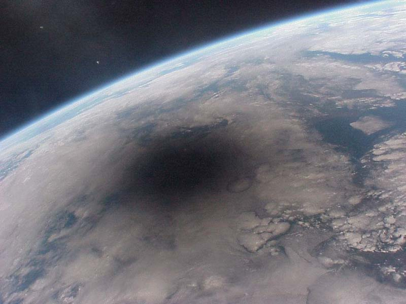 Looking Back on an Eclipsed Earth