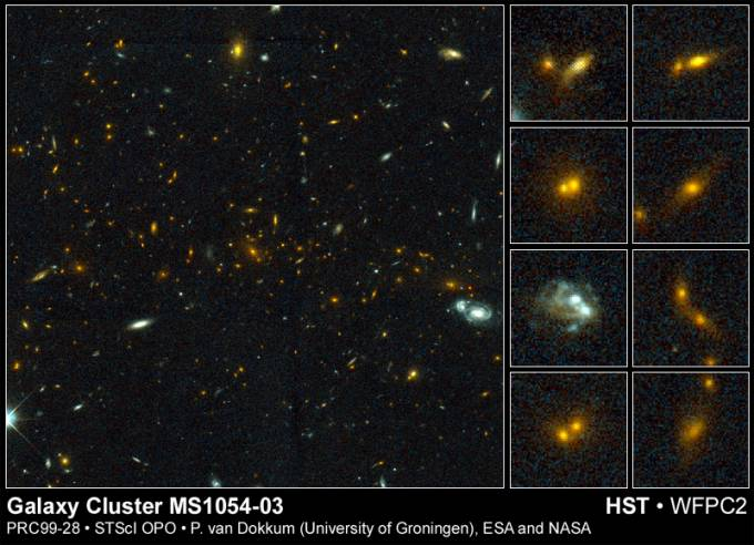 Cosmic Collisions in a Galaxy Cluster