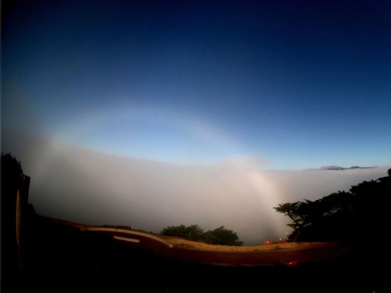 A Fog Bow Over California