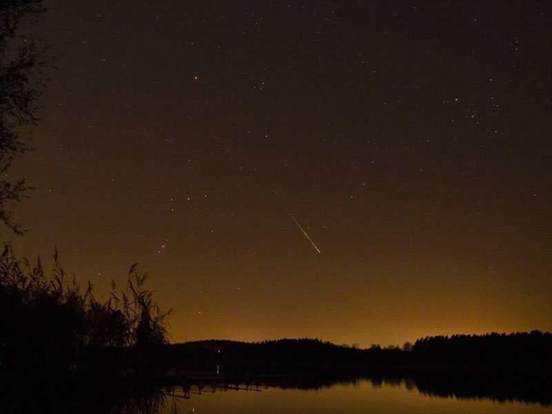 A Leonid Meteor Over Sweden