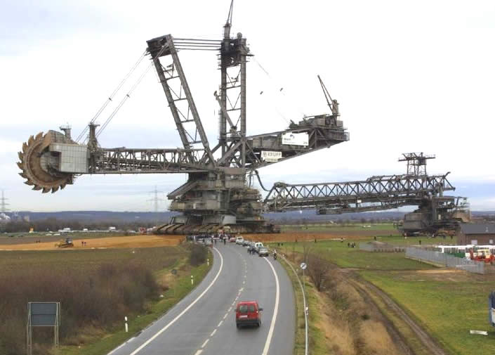 A Bucket Wheel Excavator on Earth