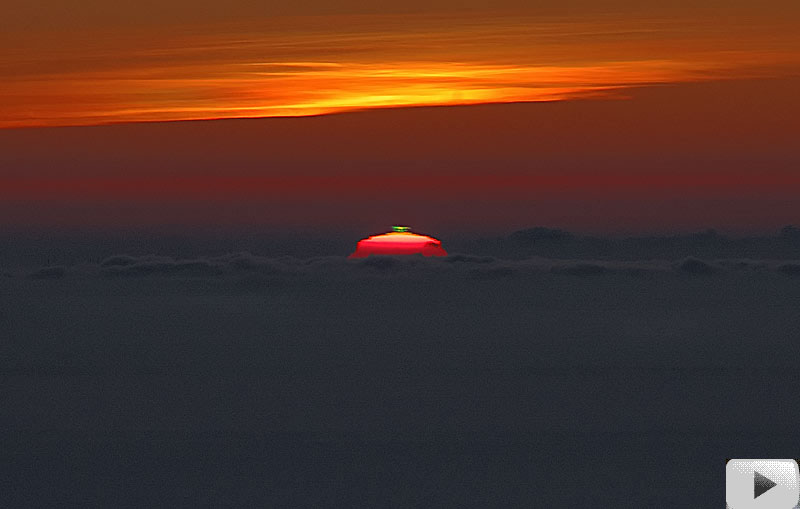 Movie: A Green Flash Over Italy