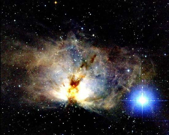 The Flame Nebula in Infrared