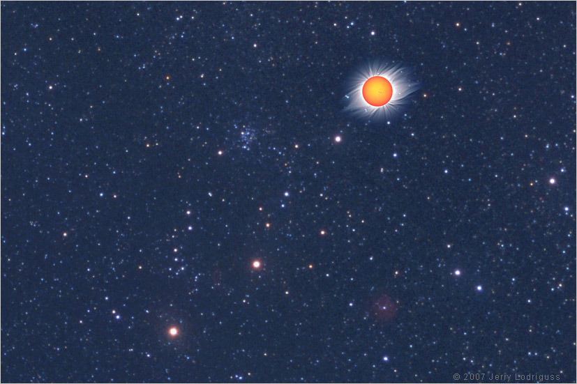 Stars and the Solstice Sun