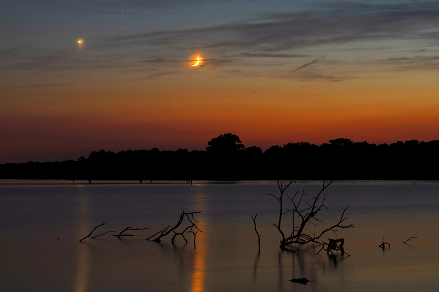 Planets over Pony Express Lake