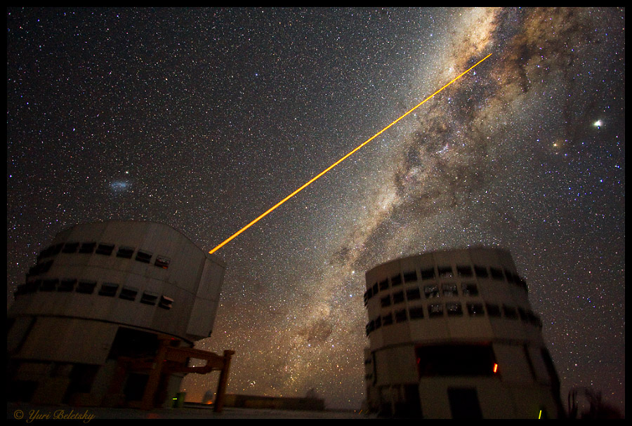 A Laser Strike at the Galactic Center