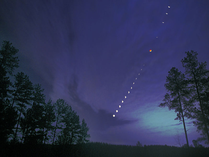 A Total Lunar Eclipse Over North Carolina