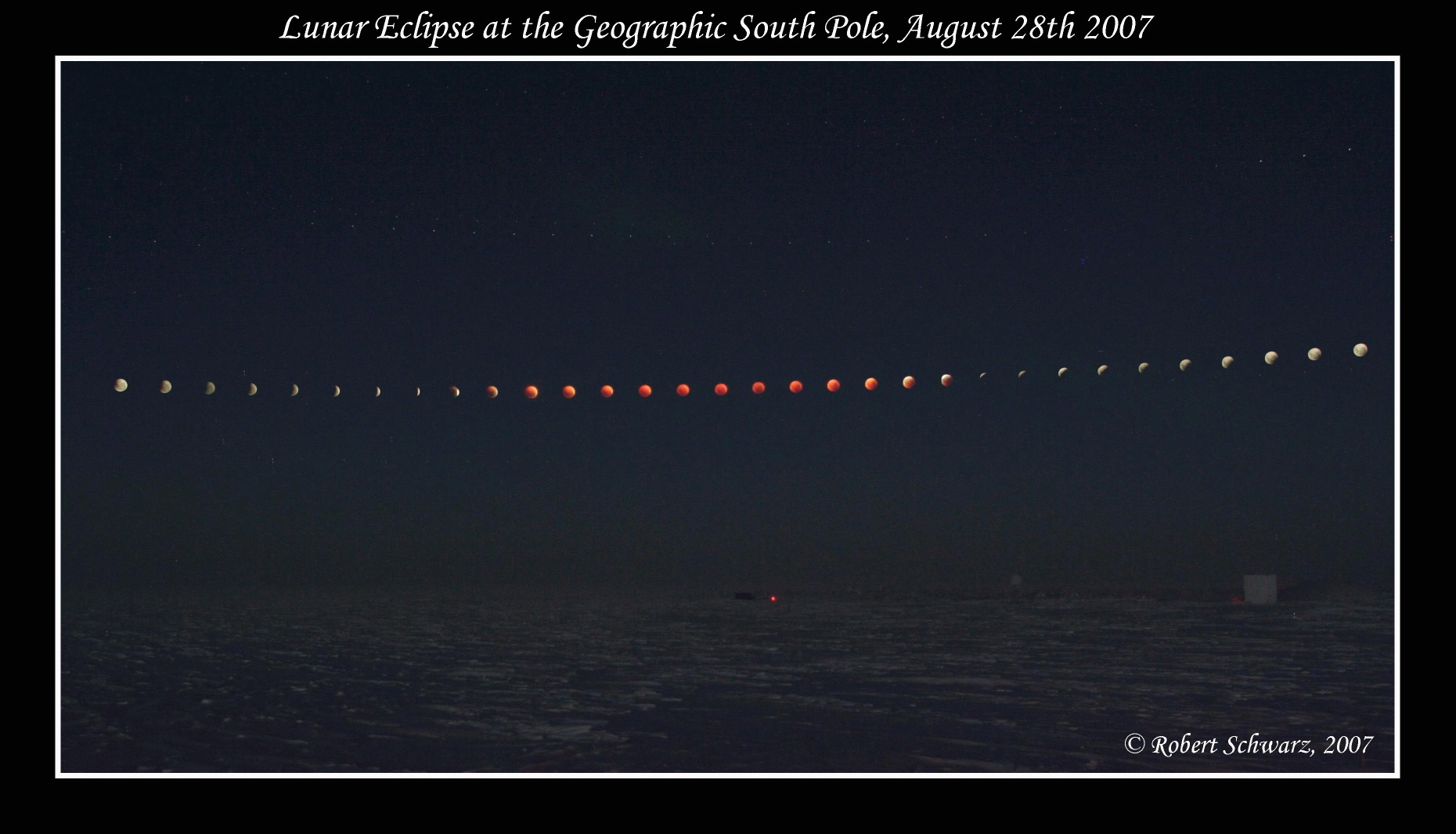 South Pole Lunar Eclipse