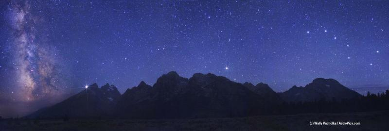 A Spectacular Sky Over the Grand Tetons