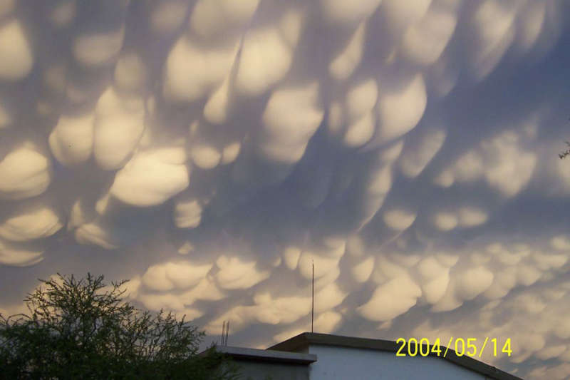 Mammatus Clouds Over Mexico