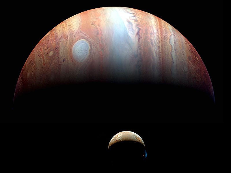 A Jupiter Io Montage from New Horizons