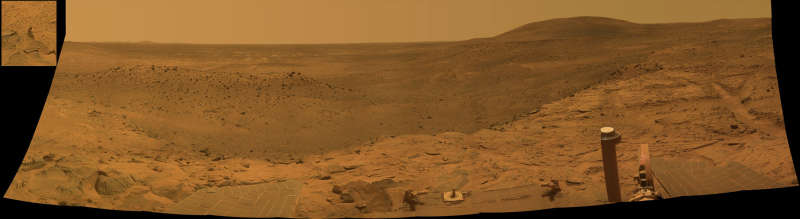 West Valley Panorama from the Spirit Rover on Mars