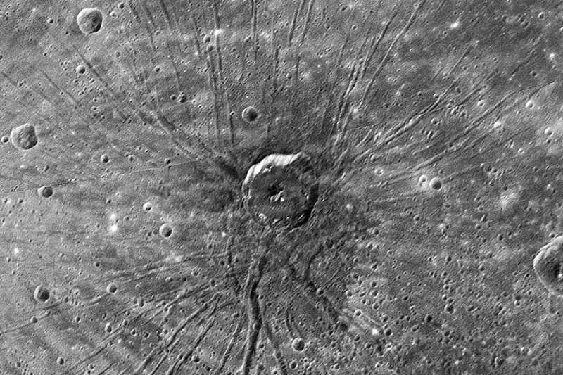 A Spider Shaped Crater on Mercury