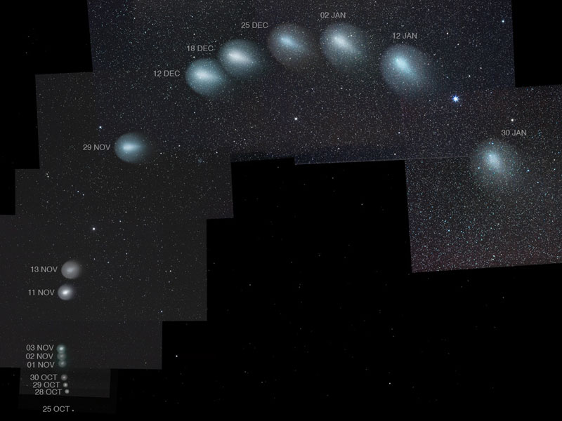 Three Month Composite of Comet Holmes