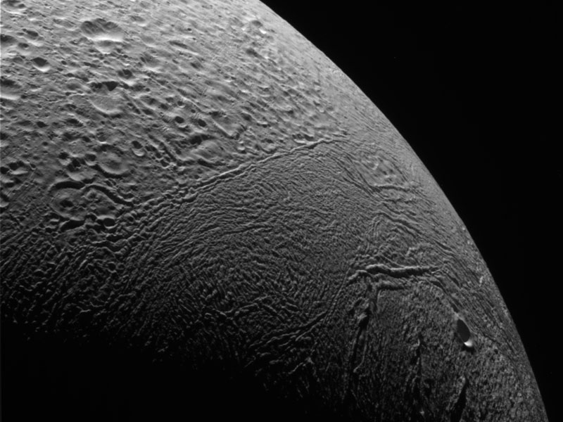 Thirty Thousand Kilometers Above Enceladus