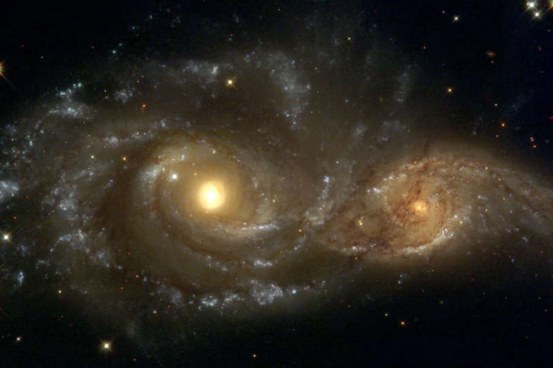 Spiral Galaxies in Collision