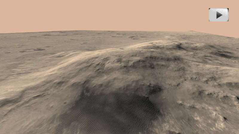 Flying Over the Columbia Hills of Mars