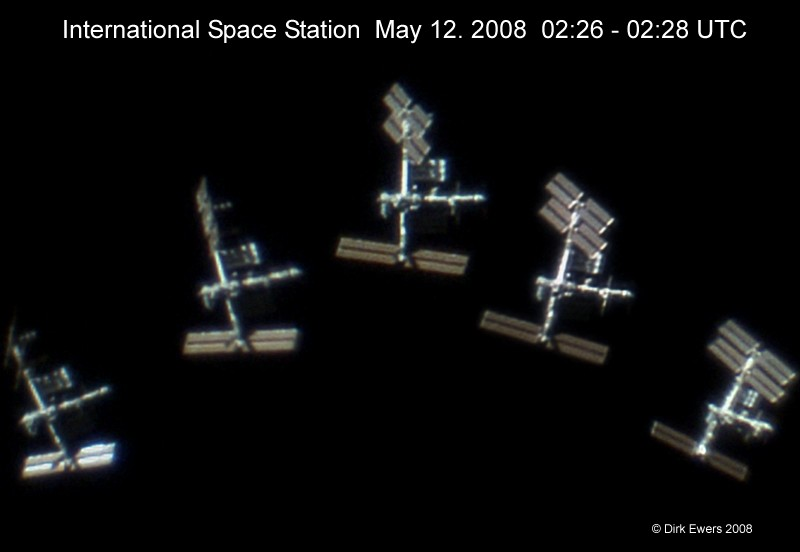 Space Station in the Sun