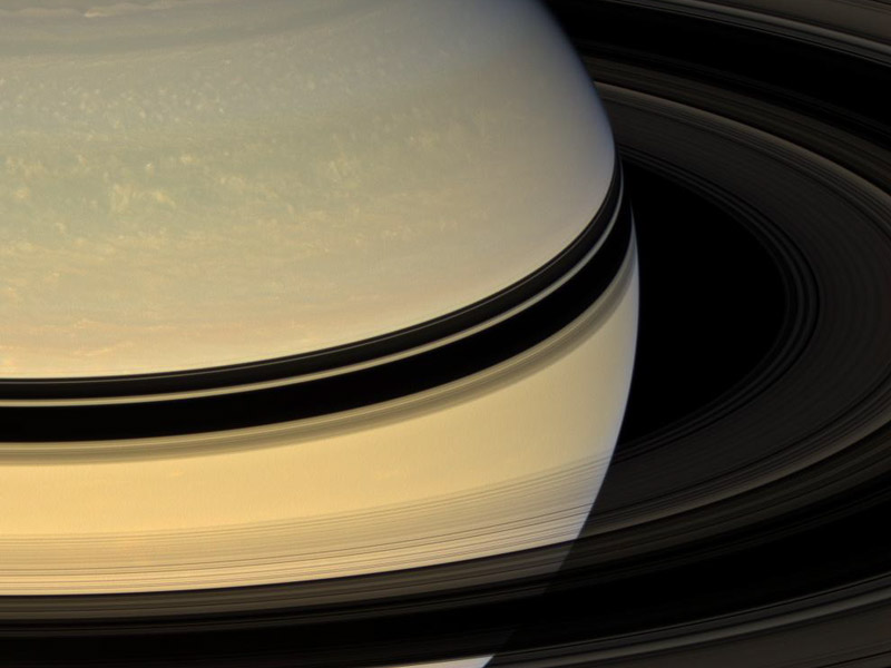 Saturns Rings from the Other Side