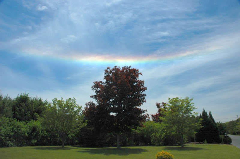 A Fire Rainbow Over New Jersey