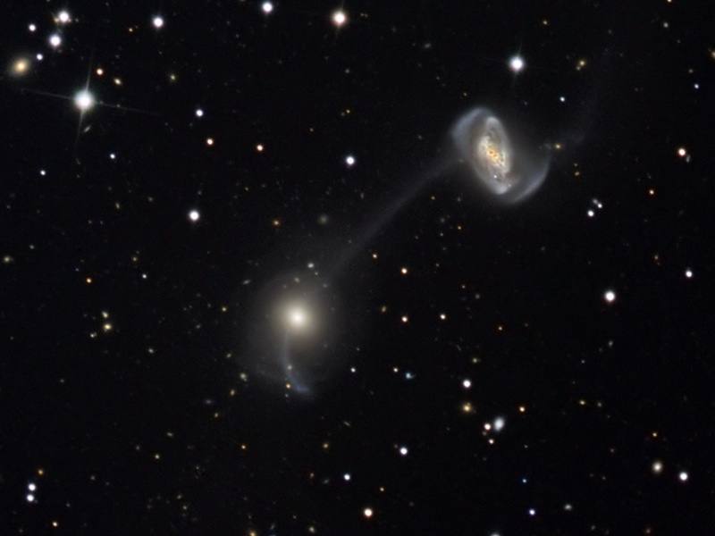Galaxies on a String