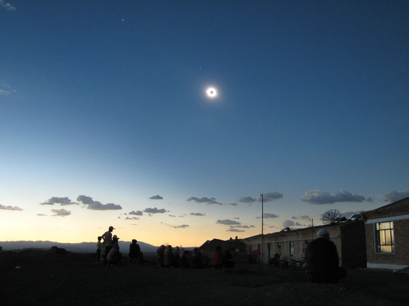 A Total Solar Eclipse Over China