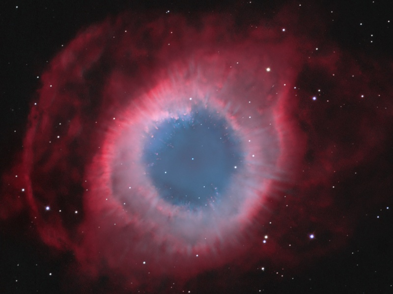 Spokes in the Helix Nebula