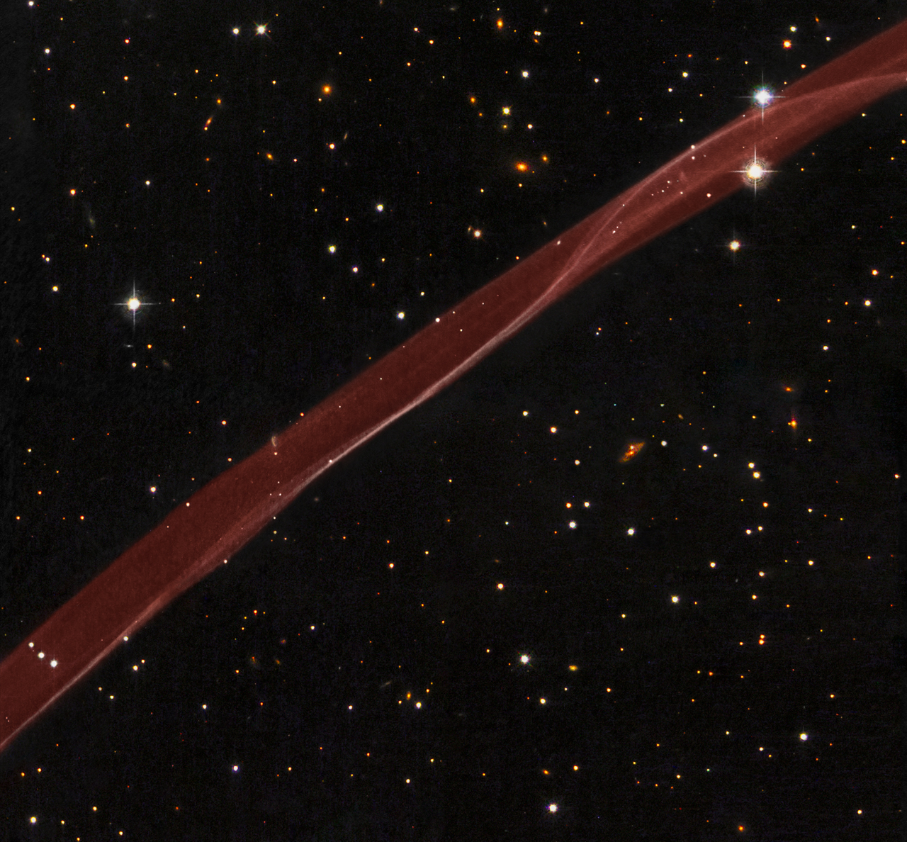 SN 1006: A Supernova Ribbon from Hubble