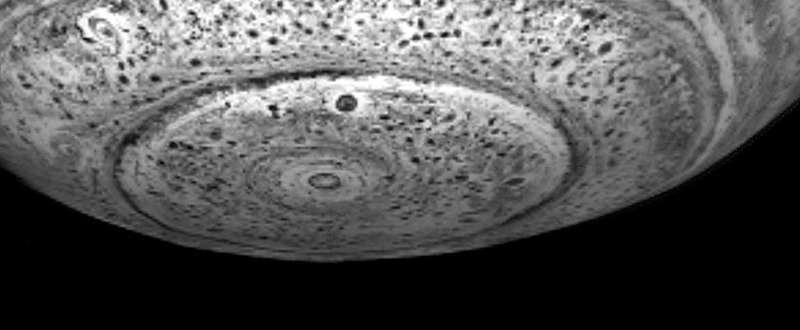 Beneath the South Pole of Saturn
