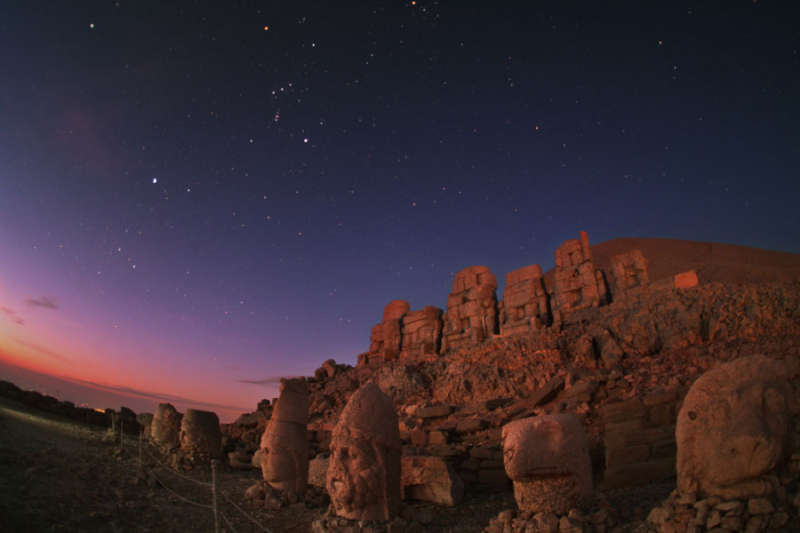 Orion Dawn Over Mount Nemrut