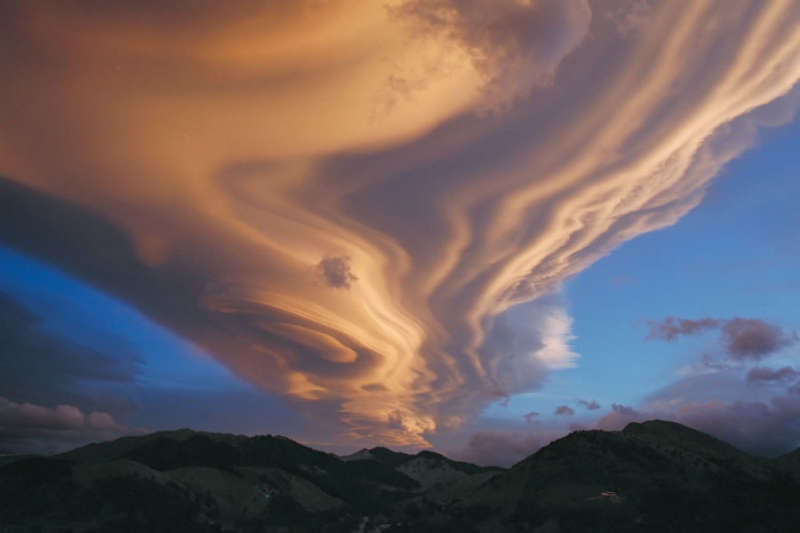 A Lenticular Cloud Over New Zealand
