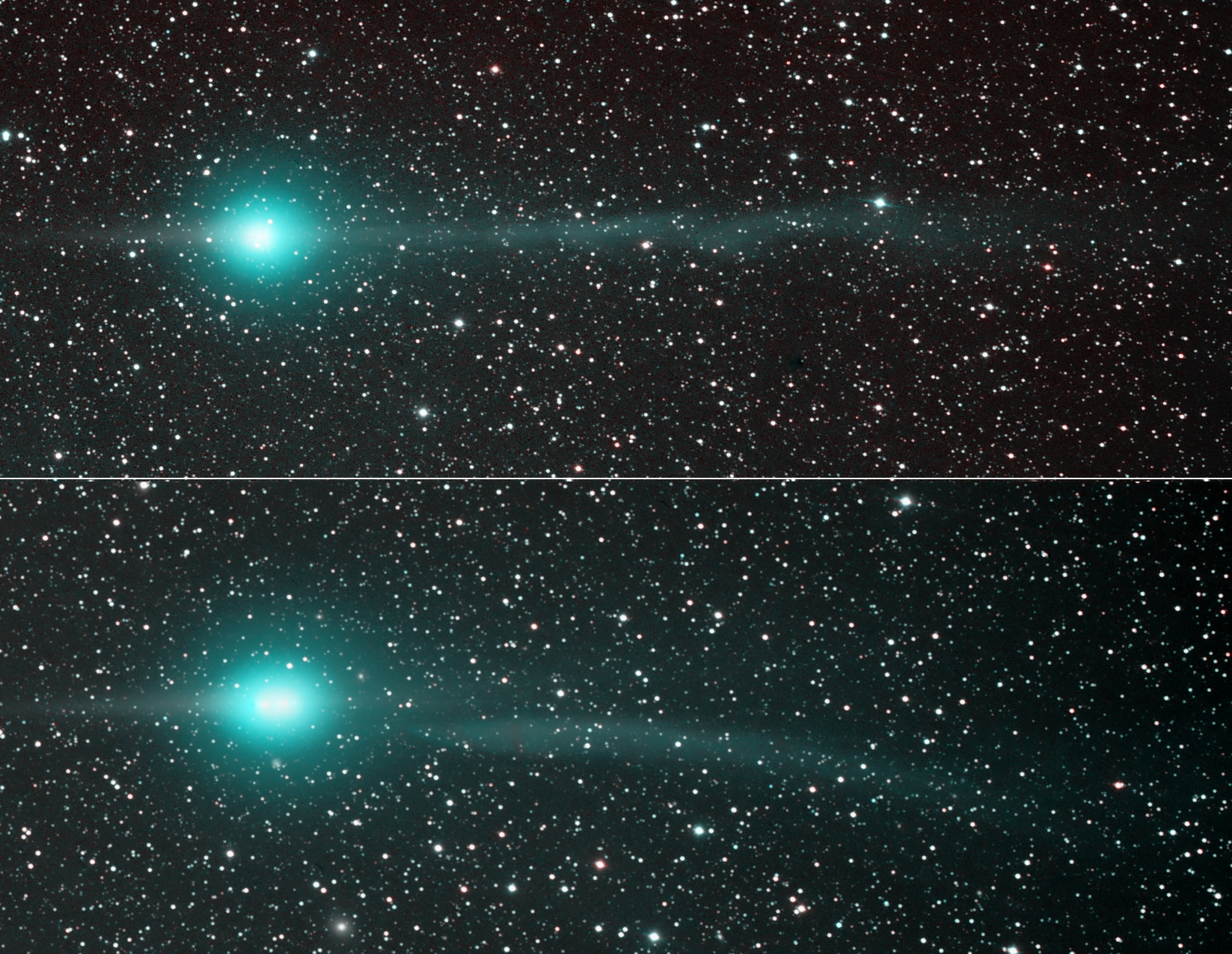 Comet Lulin Tails