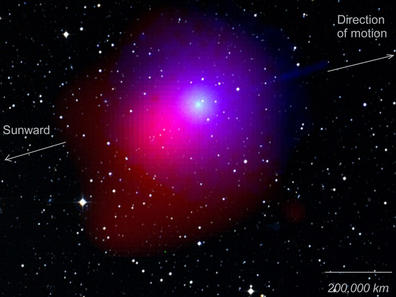 The Swift View of Comet Lulin